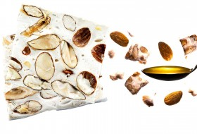 Genuine white nougat from Provence made with roasted almonds and Provencal lavender honey